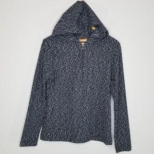 Lucy lucy tech navy heathered half zip hoodie